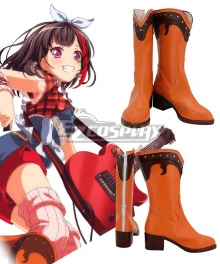 Bang Dream! Afterglow Mitake Ran Octopus Towel Brown Cosplay Shoes