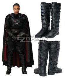 Star Wars The Mandalorian  Moff Gideon Black Shoes Cosplay Boots