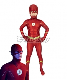 Kids DC The Flash Season 6 Barry Allen Zentai Jumpsuit Cosplay Costume
