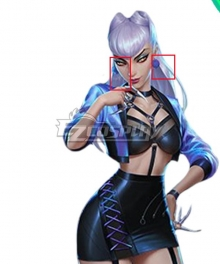 League Of Legends LOL 2020 K/DA KDA All Out Evelynn Earring Cosplay Accessory Prop