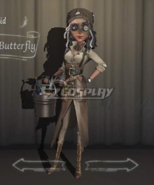 Identity V Barmaid Demi Bourbon Swallowtail Butterfly Halloween Cosplay Costume