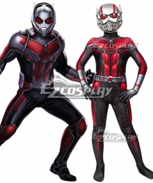 Kids Marvel Ant Man 2:Ant Man And The Wasp Scott Edward Harris Lang Zentai Jumpsuit Cosplay Costume