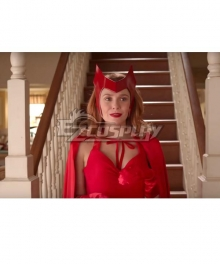 Marvel Wanda Vision Wanda Maximoff Cosplay Costume