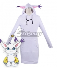 Digimon Adventure Gatomon Digital Monster Sweater Cosplay Costume