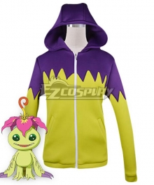 Digimon Adventure Palmon Digital Monster Sweater Cosplay Costume
