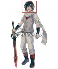 LOST SPHEAR Kanata Black Cosplay Wig