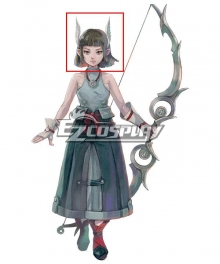 LOST SPHEAR Sherra Black Cosplay Wig