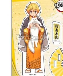 Kimetsu no Yaiba Agatsuma Zenitsu Nan jya tang Cosplay Costume