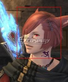 Final Fantasy XIV 5.3 G'raha Tia Red Cosplay Wig