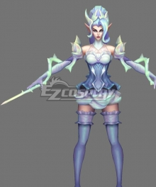 League Of Legends LOL Crystal Rose Zyra Cosplay Costume