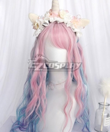 Japan Harajuku Lolita Series Fantasy Unicorn Cosplay Wig
