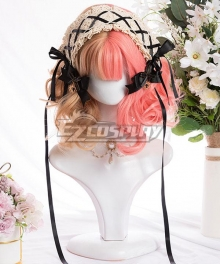 Japan Harajuku Lolita Series Peach Toffee Pink Cosplay Wig