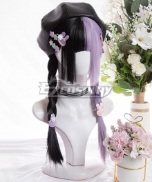 Japan Harajuku Lolita Series Black Tea Taro Puree Purple Cosplay Wig