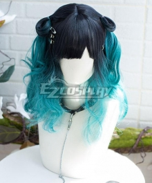 Japan Harajuku Lolita Series Five Kills Blue Cosplay Wig