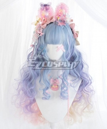Japan Harajuku Lolita Series Candy Collector Blue Cosplay Wig