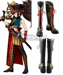 Fate Grand Order Avenger Oda Nobunaga Stage 2 Black Shoes Cosplay Boots