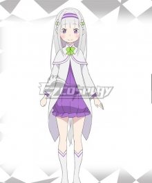 Re: Life In A Different World From Zero Emilia  Kid Cosplay Costume