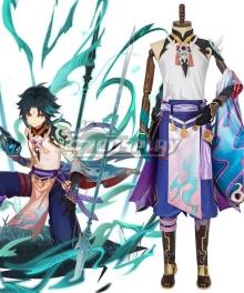 Genshin Impact Xiao Cosplay Costume New Edition