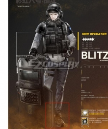 Arknights Rainbowsix siege Blitz Black Cosplay Shoes