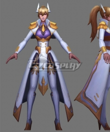 League Of Legends LOL Battle Academia Leona Prestige Cosplay Costume