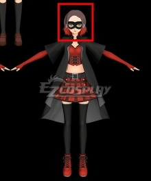 Persona 5 Scramble: The Phantom Strikers Akane Hasegawa King Black Red Cosplay Wig