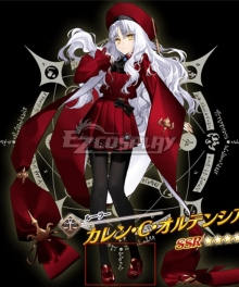 Fate Grand Order FGO Ruler Caren C Hortensia Stage 2 Red Cosplay Shoes