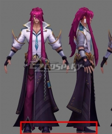 League of Legends LOL Battle Academia Yone Purple Cosplay Shoes