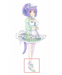 Nekopara Vol. 4 Cinnamon Green Cosplay Shoes
