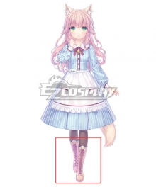 Nekopara Vol. 4 Fraise Light Brown Shoes Cosplay Boots