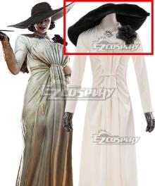 Resident Evil 8 Village Alcina Dimitrescu Vampire Lady Dimitrescu Hat Cosplay Accesssory Prop