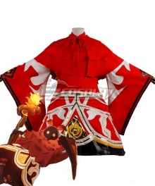 Genshin Impact Pyro Abyss Mages Cosplay Costume
