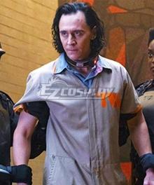 Marvel 2021 Movie Loki Prison Uniform Cosplay Costume