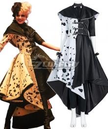 Disney Movie Cruella de Vil Only Coat Halloween Cosplay Costume