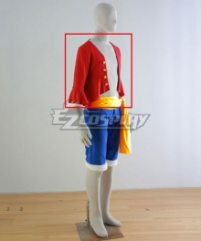 One Piece Monkey D Luffy Red Cosplay Costume Only Top