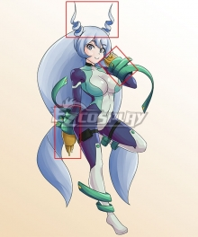 My Hero Academia Boku No Hero Akademia Nejire Hado Gloves and Horns Cosplay Accessory Prop