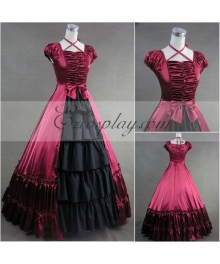 Red Sleeveless Gothic Lolita Dress-LTFS0036