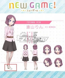 New Game! Rin Toyama White Shoes Cosplay Boots