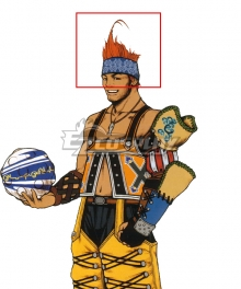Final Fantasy X FF10 Wakka Orange Cosplay Wig