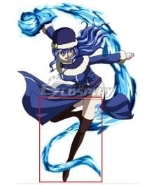 Fairy Tail Season 3 Juvia Lockser Brown Shoes Cosplay Boots