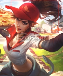 League Of Legends LOL Pizza Delivery Sivir Brown Cosplay Wig