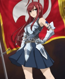 Fairy Tail Erza Scarlet Armor Cosplay Costume