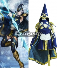 League of Legends Classic Ashe The Frost Archer Cosplay Costume