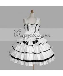White Gothic Lolita Dress