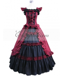 Red Sleeveless Gothic Lolita Dress-LTFS0007