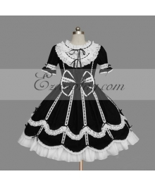 Black-White Gothic Lolita Dress -LTFS0084