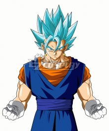 Dragon Ball Super Vegetto SSGSS  Blue Cosplay Wig