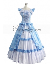 Blue Sleeveless Gothic Lolita Dress-LTFS0008