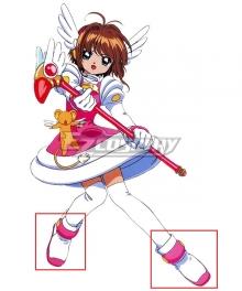 Cardcaptor Sakura Sakura Kinomoto White  Shoes Cosplay Boots