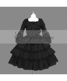 Black Gothic Lolita Dress -LTFS0092
