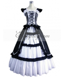 Dark Blue Sleeveless Gothic Lolita Dress-LTFS0009